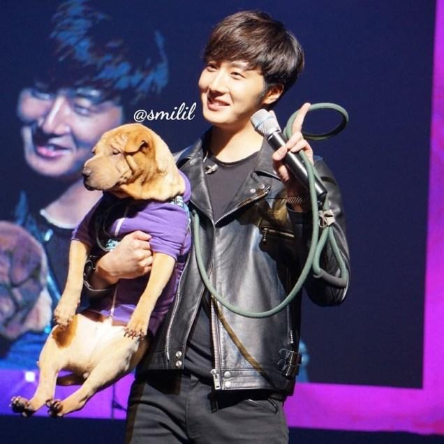 2014 11 22 Jung II-woo in his Fourth Korean Fan Meet. Cr. smilly_smilil 2