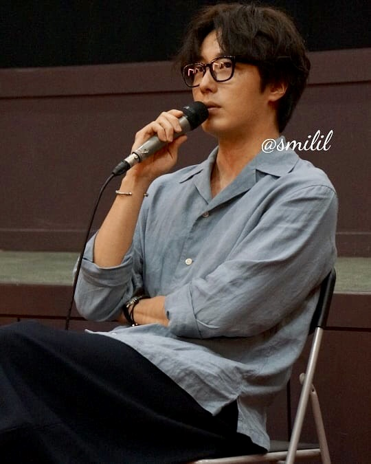2019 7 21 Jung Il-woo at the Q & A session of the screening of the movie Black Summer. Cr. @ smilil 1