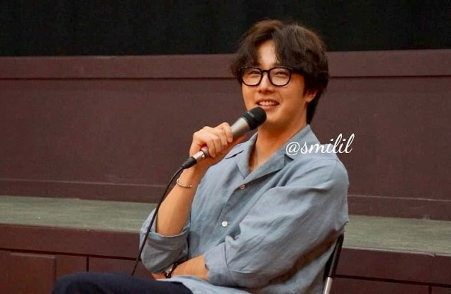 2019 7 21 Jung Il-woo at the Q & A session of the screening of the movie Black Summer. Cr. @ smilil 10