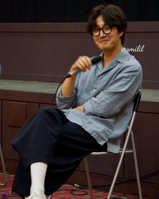 2019 7 21 Jung Il-woo at the Q & A session of the screening of the movie Black Summer. Cr. @ smilil 6
