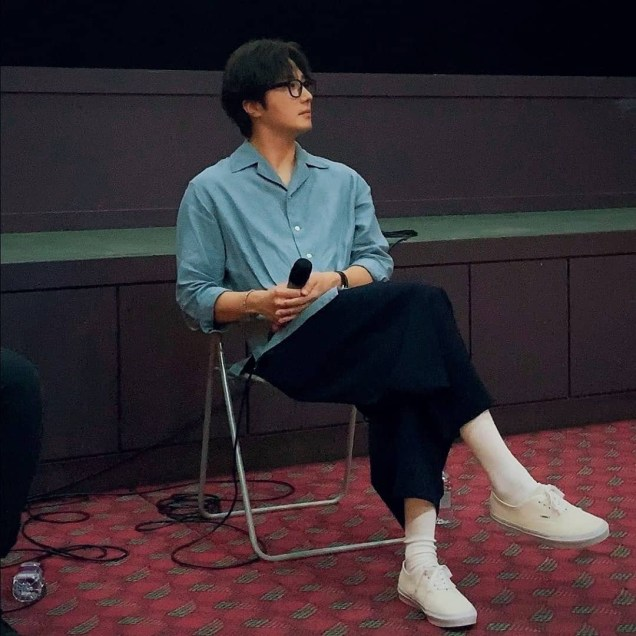 2019 7 21 Jung Il-woo at the Q & A session of the screening of the movie Black Summer. Cr. Unknown. 2