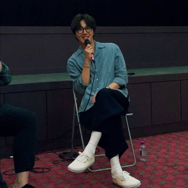 2019 7 21 Jung Il-woo at the Q & A session of the screening of the movie Black Summer. Cr. Unknown. 3