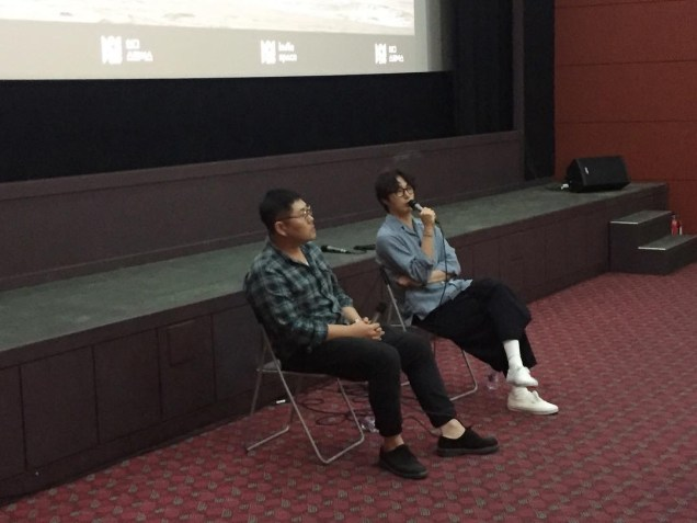 2019 7 21 Jung Il-woo participating in a Q & A session at the screening of the independent film Black Summer 1
