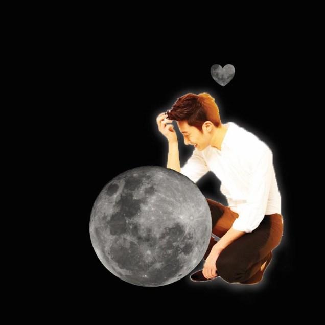 Ilwoo on the moon. Cr. Fan13 and Kwon Yoon-sung 6