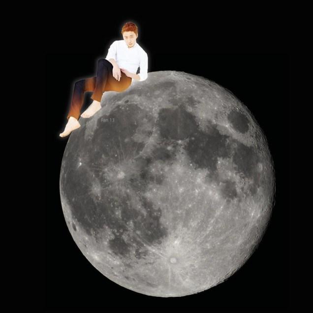 Ilwoo on the moon. Cr. Fan13 and Kwon Yoon-sung 7