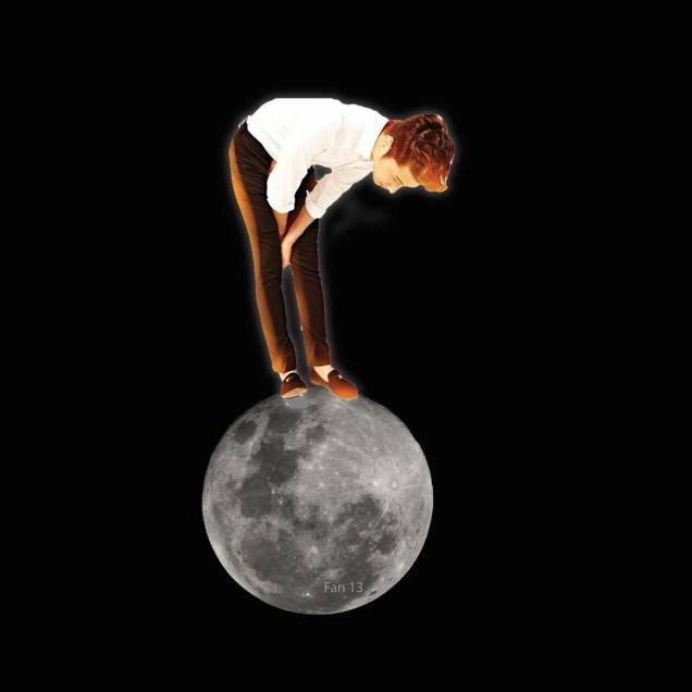 Ilwoo on the moon. Cr. Fan13 and Kwon Yoon-sung 8