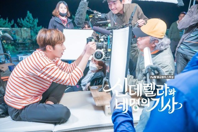 Jung Il-woo in Cinderella and the Four Knights. Episode 8. Cr. tvN Website Photos. Filming drunk part. PNG6