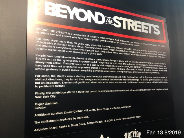 2019 8 14 Beyond the Streets Exhibition in Brooklyn. 1