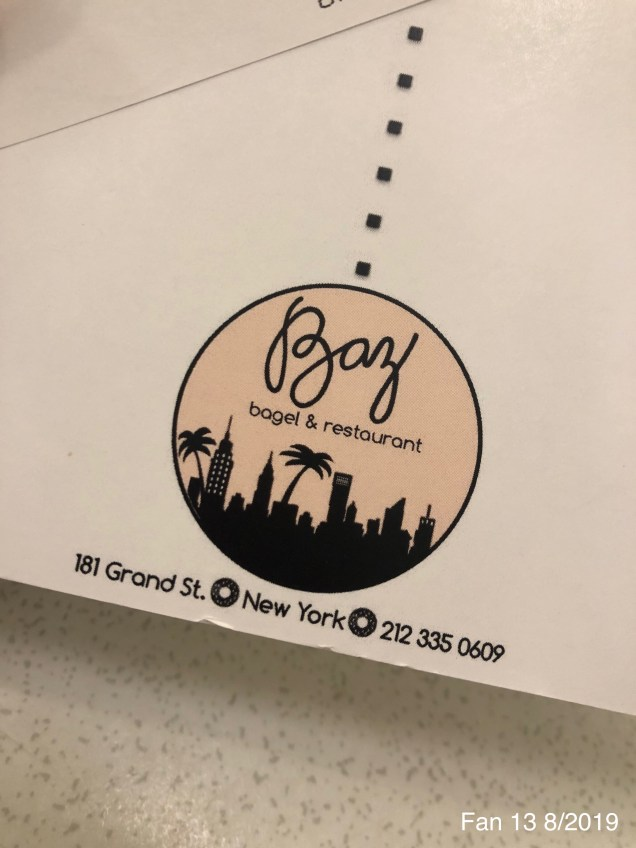 2019 8 16 Baz Rainbow Bagel in NYC. 4