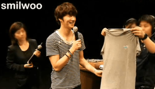 2012 9 9 Jung Il-woo Fan Meeting . Images from video by Snowy with Smilwoo photos. 2