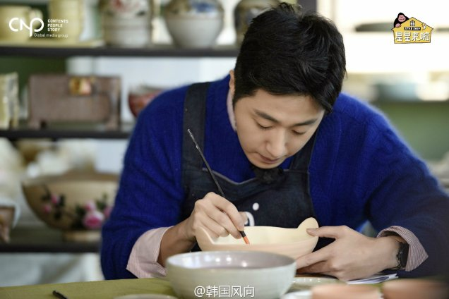 2016 11 Jung Il-woo in Star Shop. Making pottery. 1
