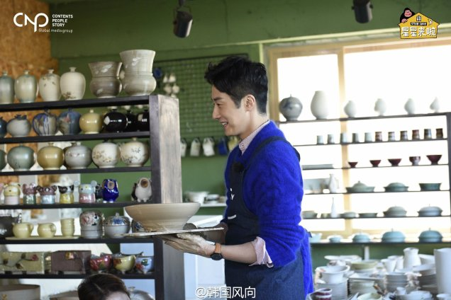 2016 11 Jung Il-woo in Star Shop. Making pottery. 5