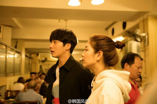 2016 Jung Il woo in Star Shop photos. Dark Gray short overcoat. 13
