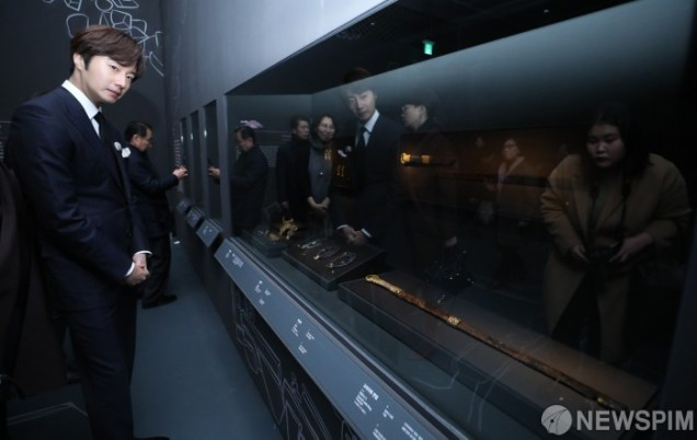2019 12 3 Jung Il woo attending the Gaya Exhibit at the National Museum of Korea. 3