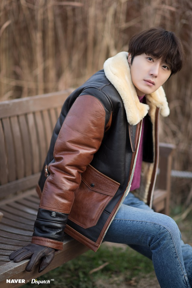 2019 12 5 Jung Il woo in a leather jacket photo shoot. Cr. Dispatch:Naver 11