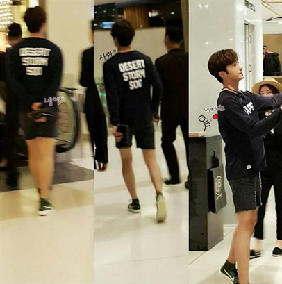Jung Il woo in Behind the Scenes of Love and Lies. At the airport. 4
