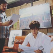Jung Il woo in Behind the Scenes of Love and Lies. It's a script! 2