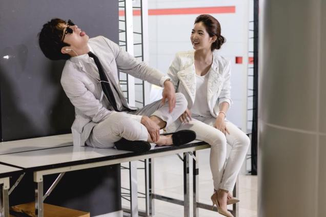 Jung Il woo in Behind the Scenes of Love and Lies. With Mild. 4