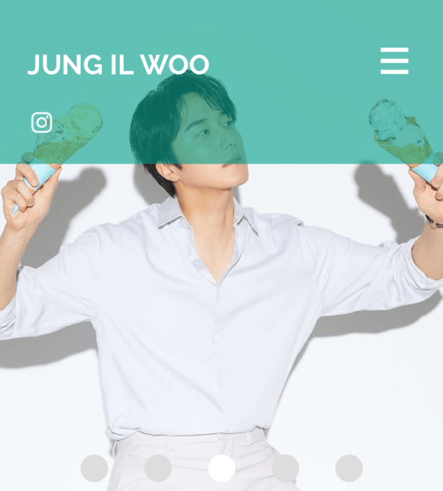 2020 7 14 Jung Il Woo's Website Look is refreshed. 2