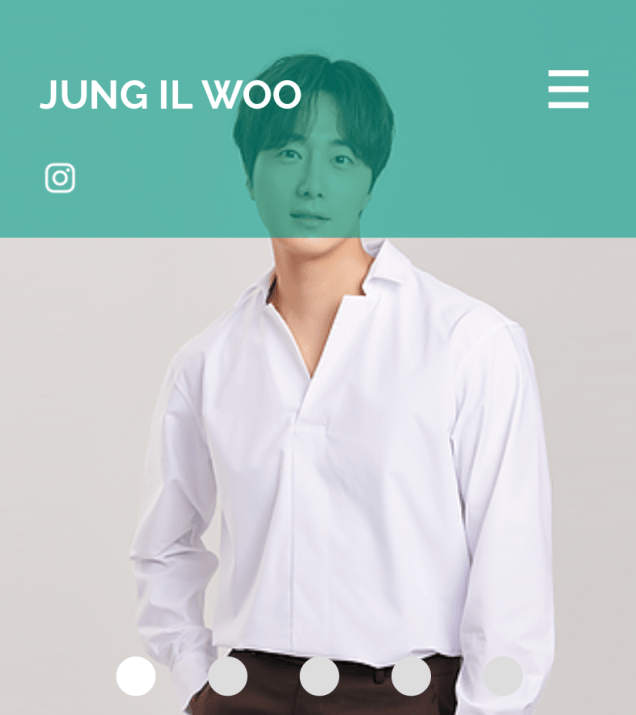 2020 7 14 Jung Il Woo's Website Look is refreshed. 5