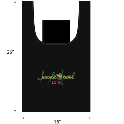 Jungle Jewel Exotics Large Reuasable Shopping Bag with Self Pocket