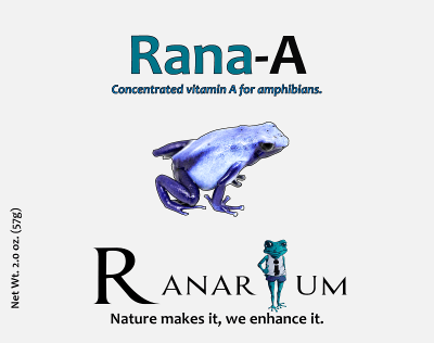 Vitamin A from Ranarium for frogs and reptiles available in Canada