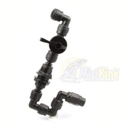 MistKing Value Control Valve T Single Misting Nozzle Assembly