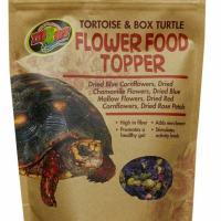 zoo med tortoise and box turtle flower food topper 1.4oz bag