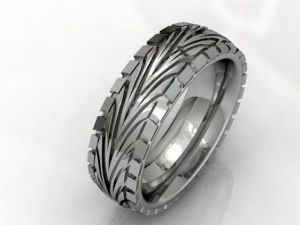 tire tread wedding ring | Jungleland Vintage