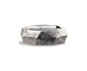 David Yurman Band Ring with Meteorite