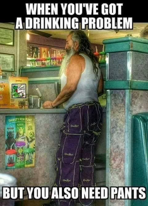 when you've got a drinking problem but you also need pants, sew pants from Crown Royal Whiskey bags