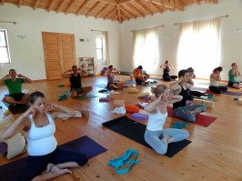 I guess I was talking too much in this class :) Actually it's the bumble bee pranayama… Photo by Handan Karadag