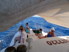 Quite a comfortable boat for lounging!