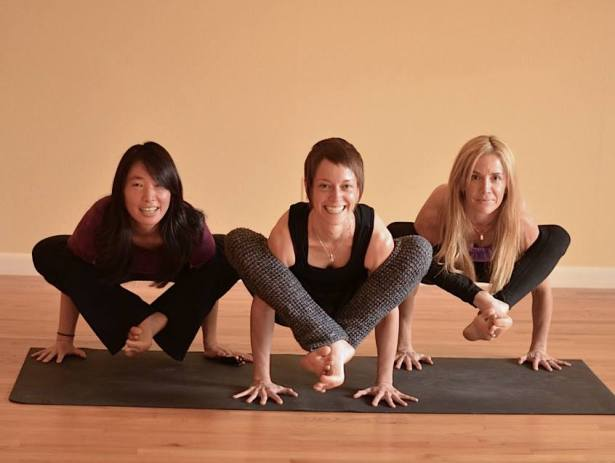 Advertising shot with my buds & fellow Yoga Workshop teachers Laura & Melissa, 2014.