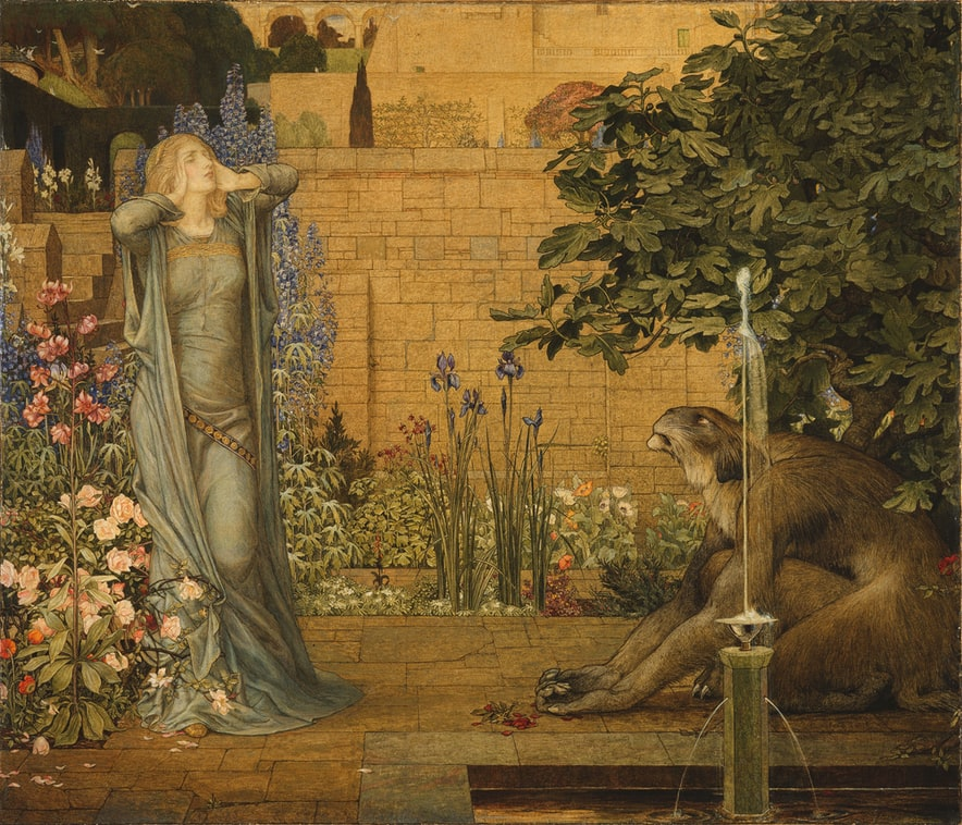 Beauty and the Beast, 1904 from the Birmingham Museums Trust