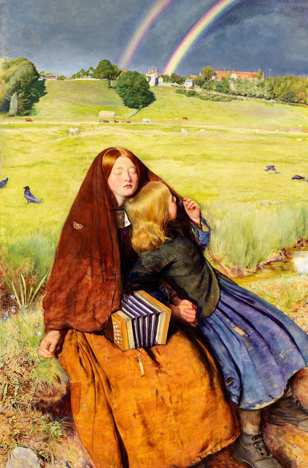 The Blind Girl, 1856. Artist: John Everett Millais, Oil on canvas from Birmingham Museums Trust