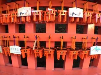 Mini torri gates with people's wishes/prayers