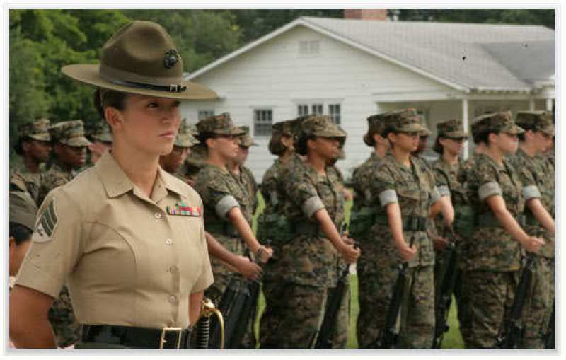 Woman_Marine-Drill_Instructor-Marine_Corps women on church boards