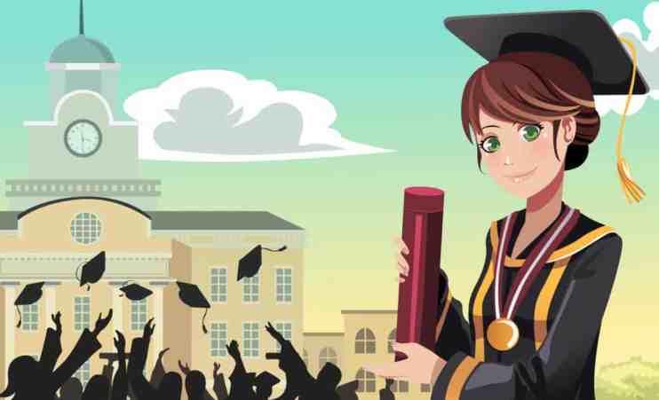 Girl college grad