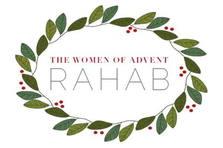 Advent wreath with title of Rahab