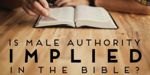 "Is Male Authority ""Implied"" in the Bible?"