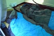 Blick ins Zelt