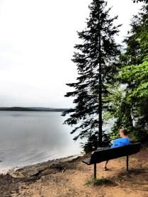 Entspannen am Strand des Campingplatzes