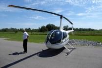 Unser Hubschrauber & unser Pilot