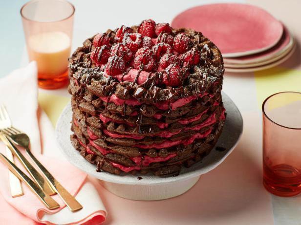Chocolate Berry Waffle Cake