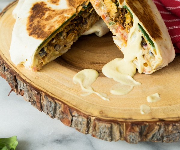 Vegetarian Crunch Wrap Supreme