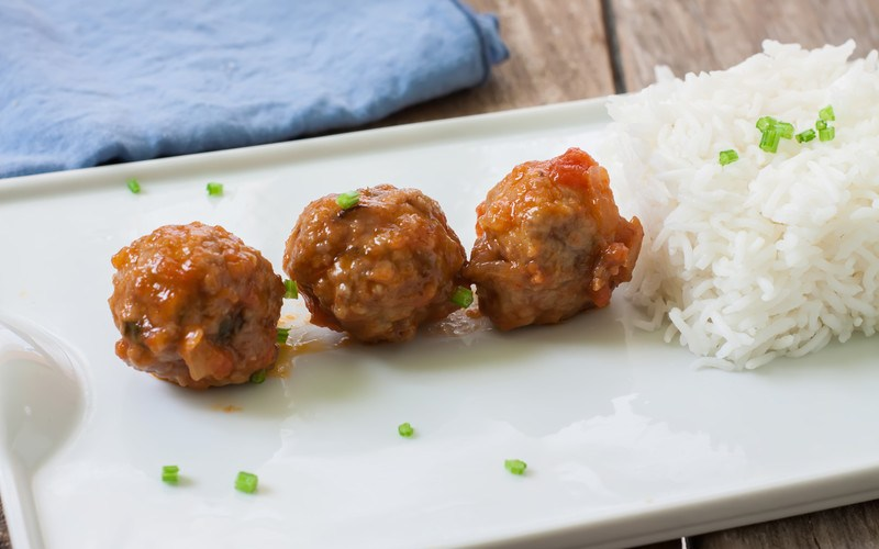 Lemongrass Pork Meatballs & Coconut Rice