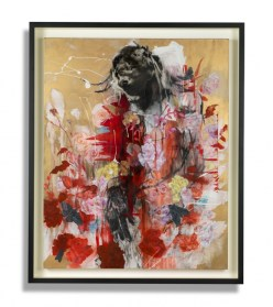 antony-micallef-bestial-desce-nt-100-x-80cm-oil-charcoal-and-metallic-gold-paint-on-canvas