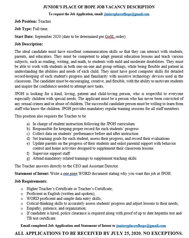 JPOH_job description_teacher