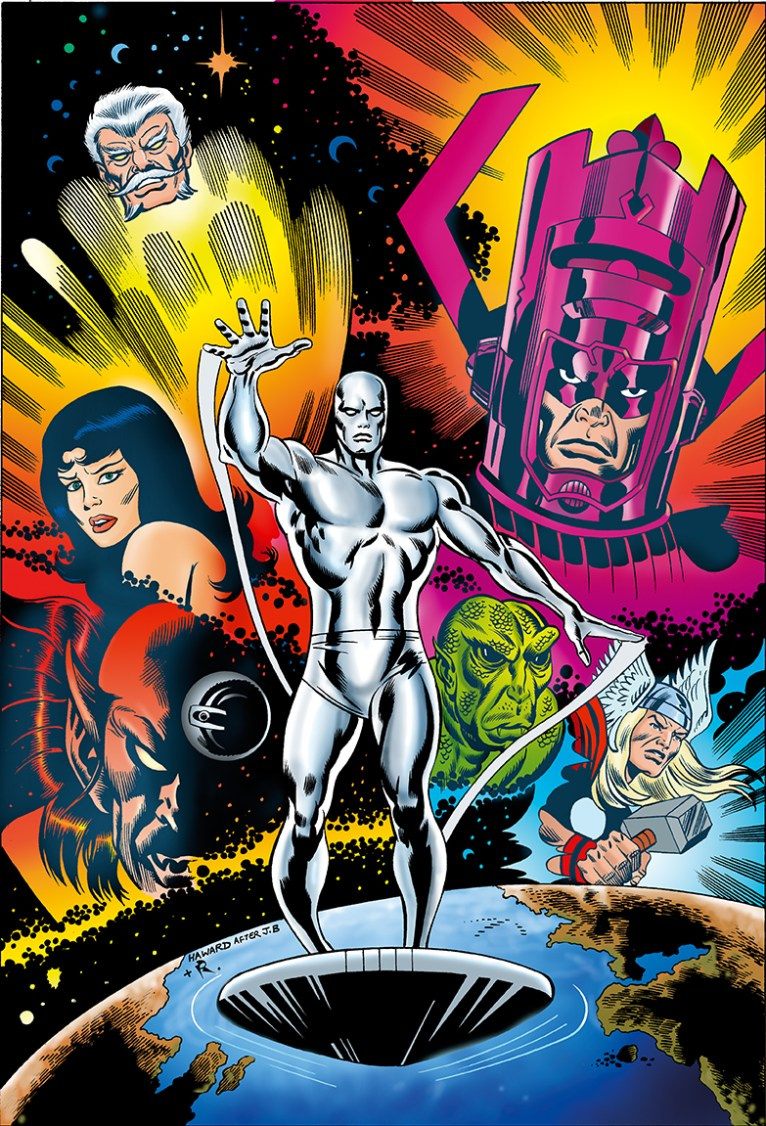 Silver Surfer Comic coloured by Junior Tomlin for Marvel